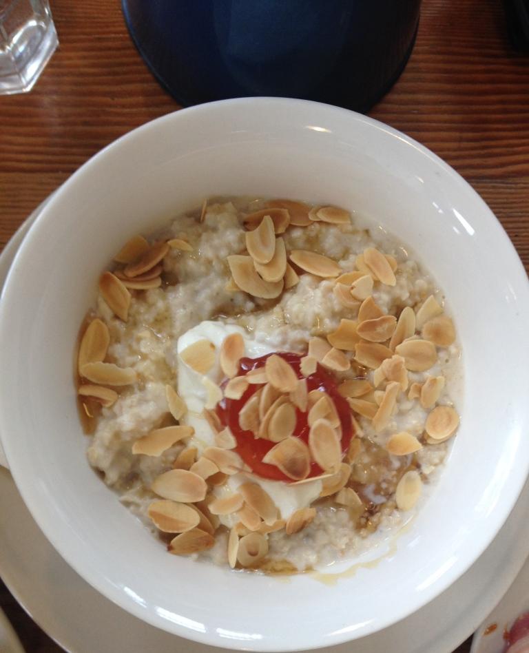 porridge, bread and jam for frances