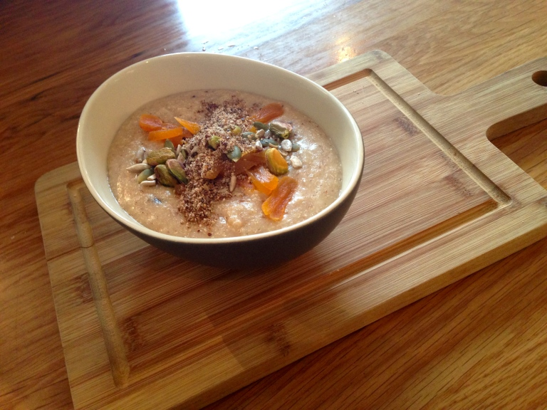 quinoa porridge, the lovebird