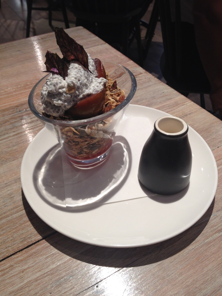 toasted granola parfait & strawberry, the grain store