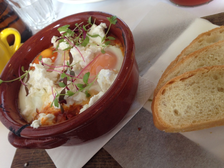 baked eggs, friends of mine