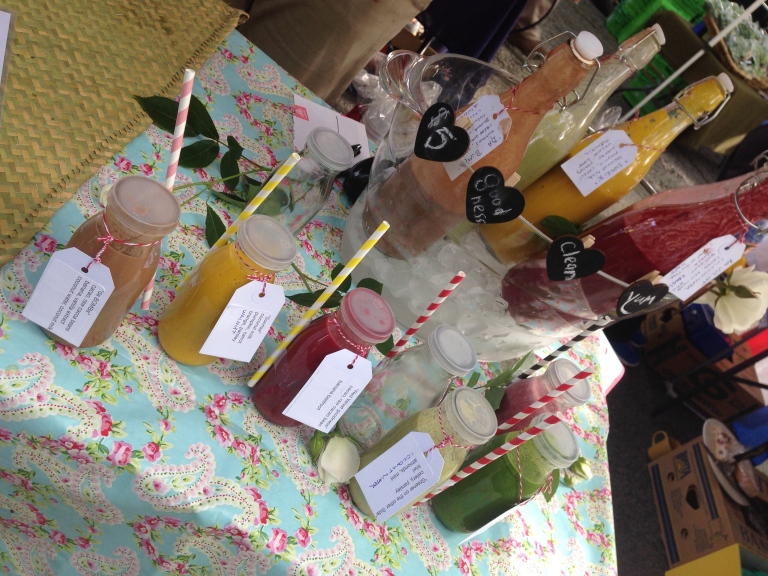 fresh smoothies, chc farmers market