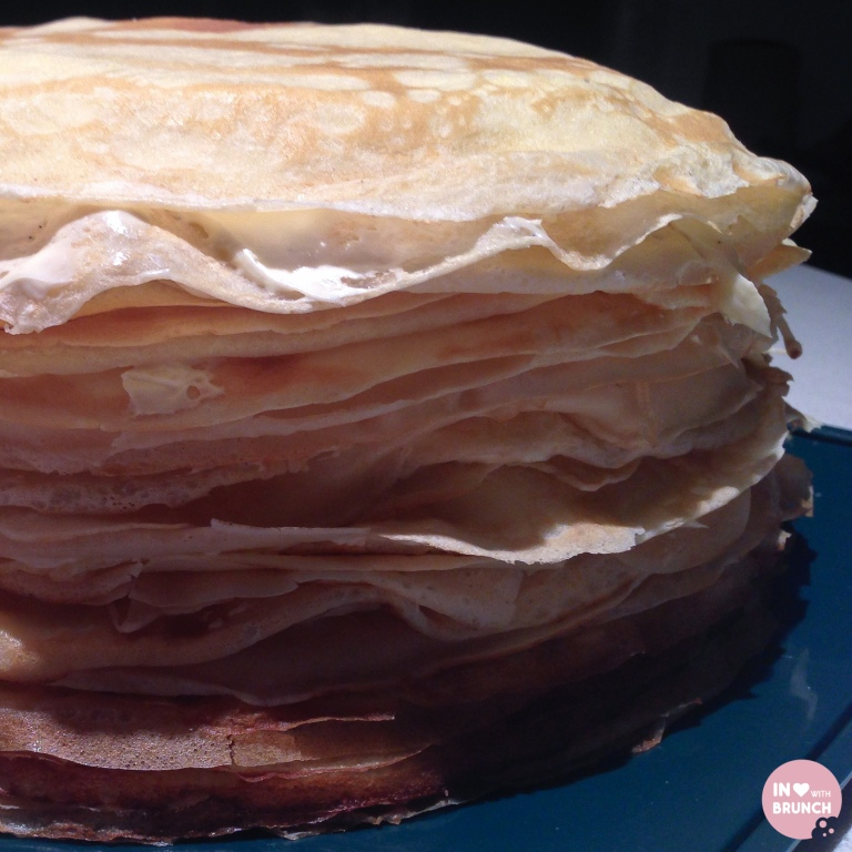 Orange Creme Crepe Cake close-up of layers (1 of 1)