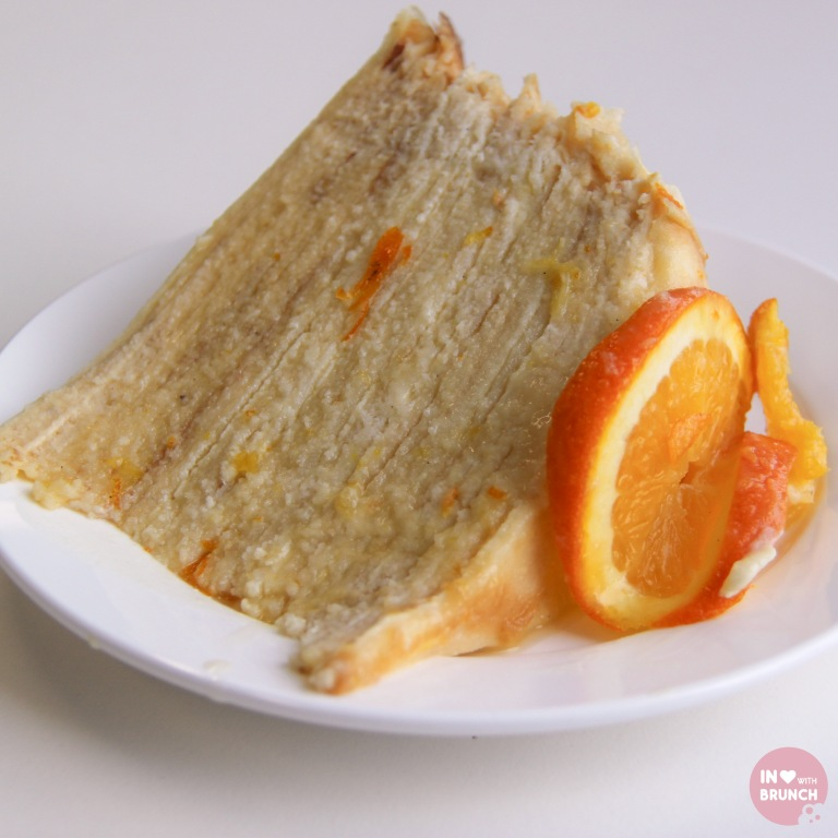 Orange Creme Crepe Cake Slice (1 of 1)