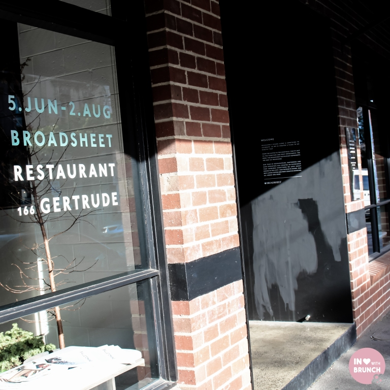 Broadsheet Restaurant Collingwood Exterior (1 of 1)
