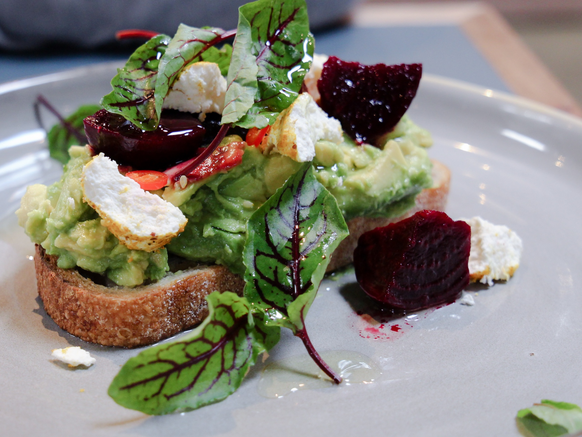 Broadsheet Restaurant Collingwood Smashed Avo (1 of 1)